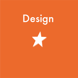 text design and illustration of star